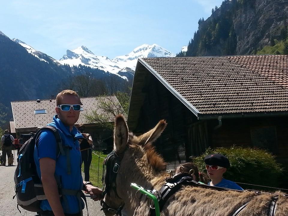Romain en accompagnateur ânier
