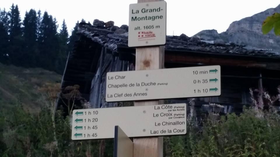 panneau randonnée roc des arces
