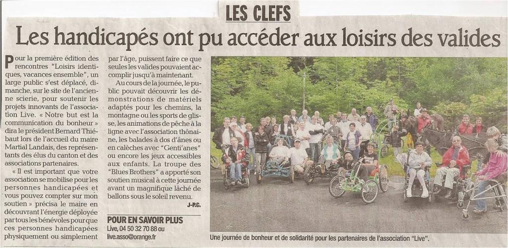 Article du Dauphiné Libéré des 1ères Rencontres LIVE