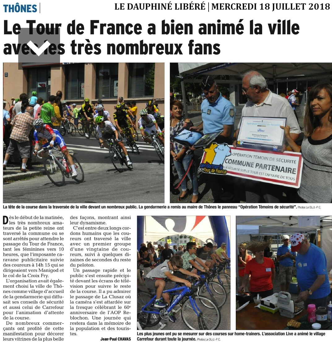 Article DL74 Tour de France 07.2018