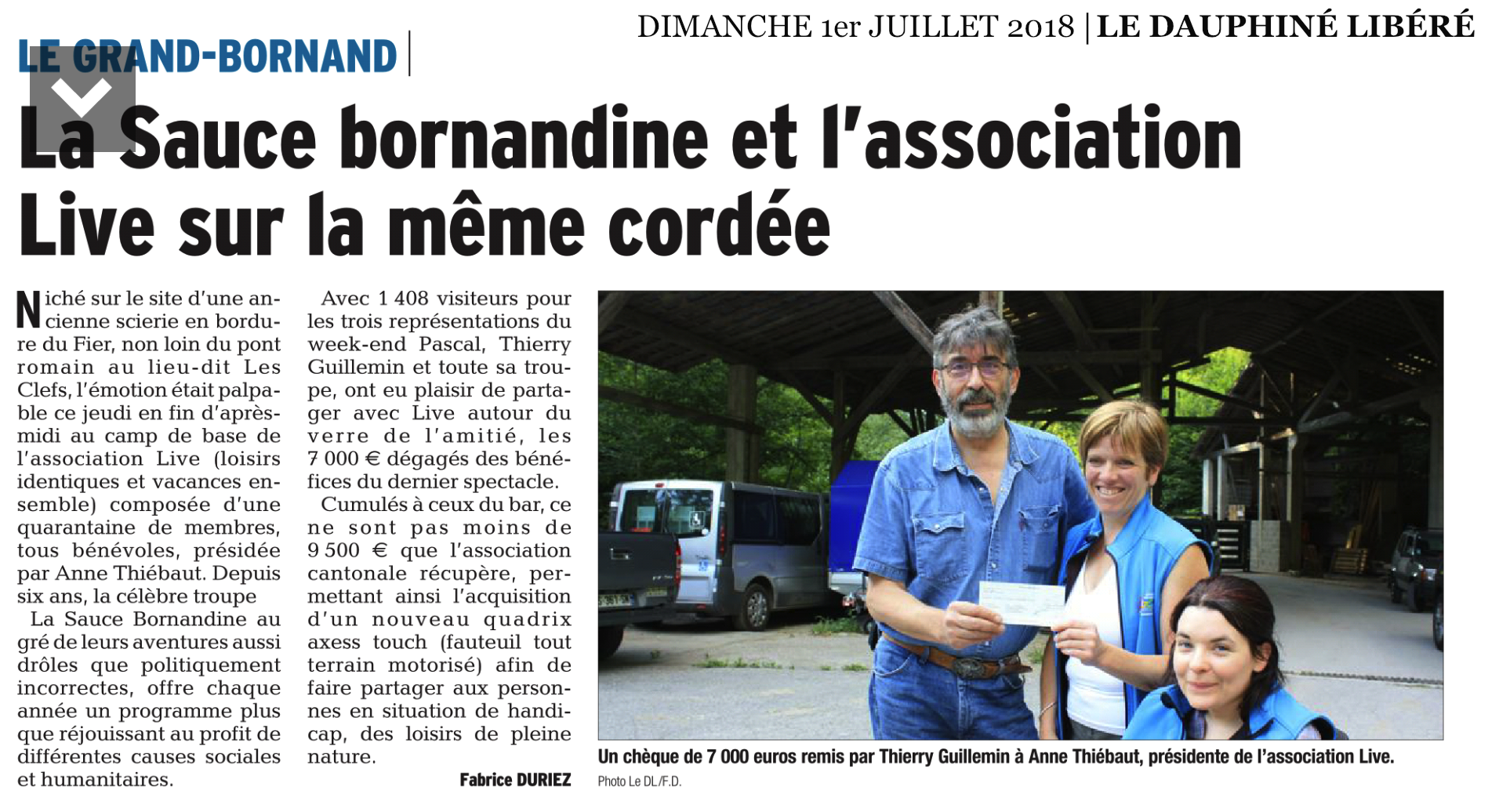 Article DL74 remise officielle 07.2018