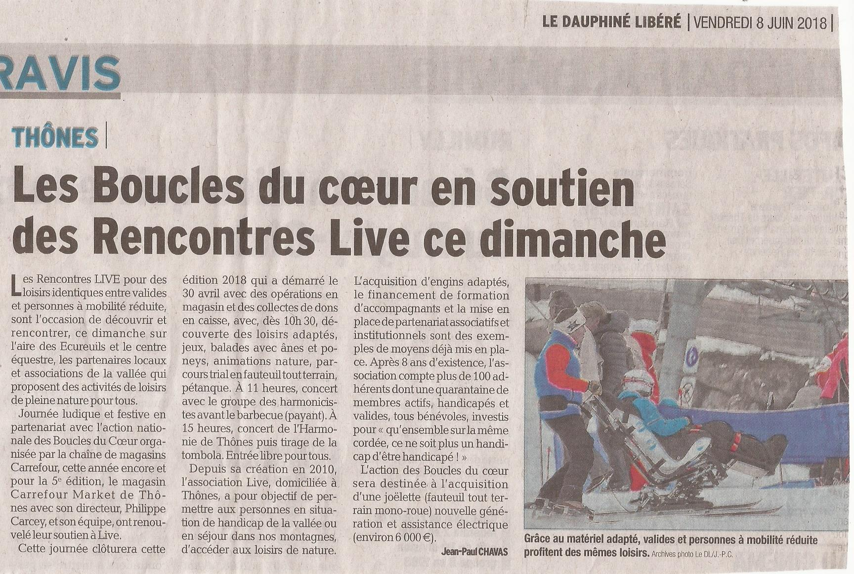 Article DL74 Boucles du Coeur 08.06.2018