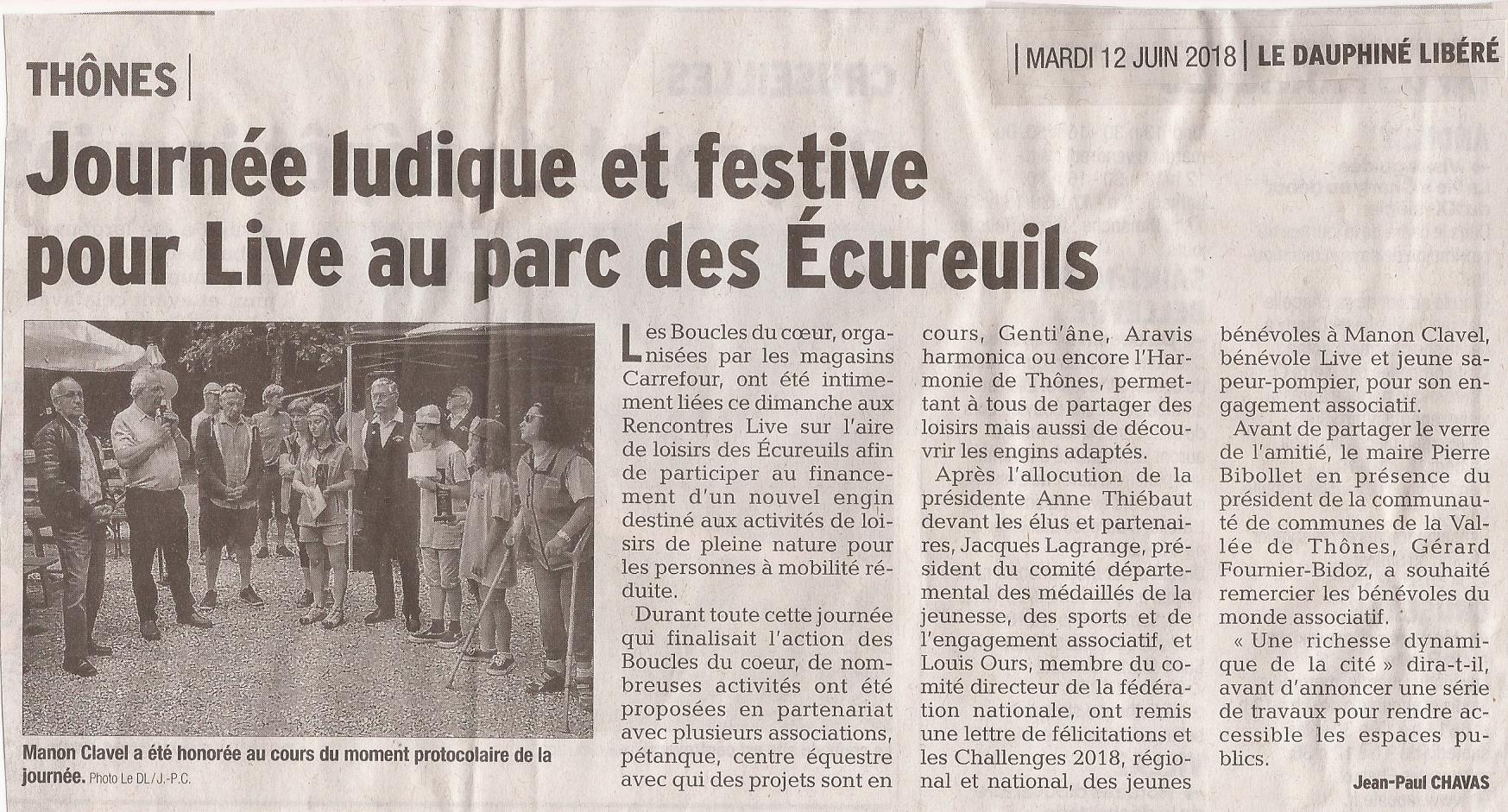 Article DL74 Boucles du Coeur 12.06.2018