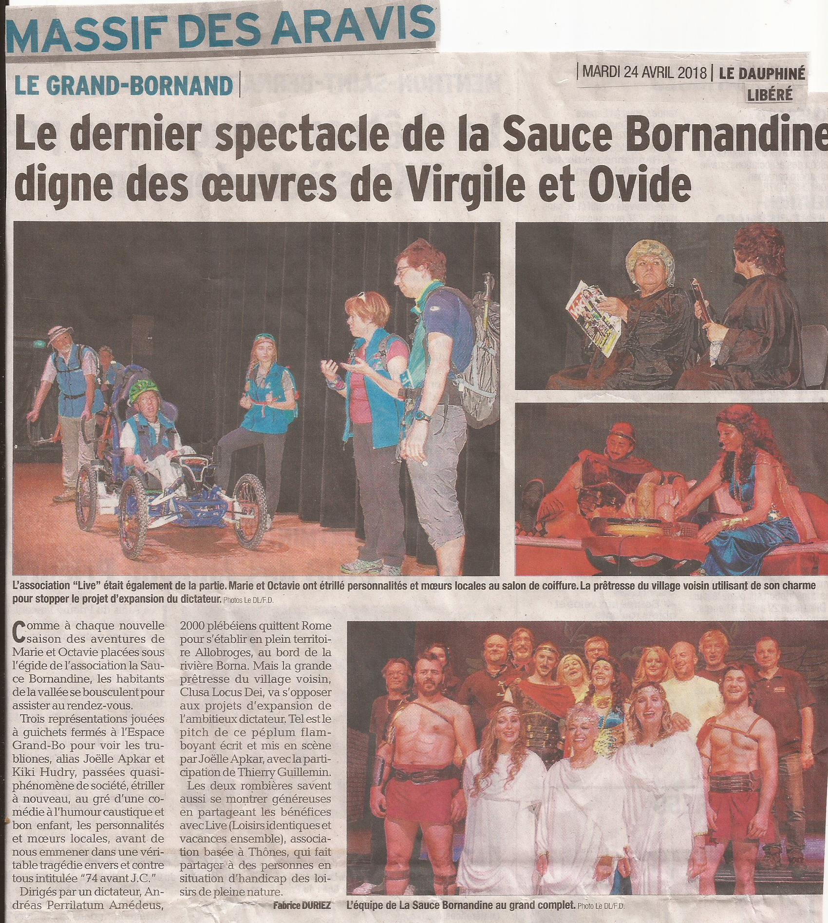 Article DL74 La Sauce Bornandine 24.04.2018