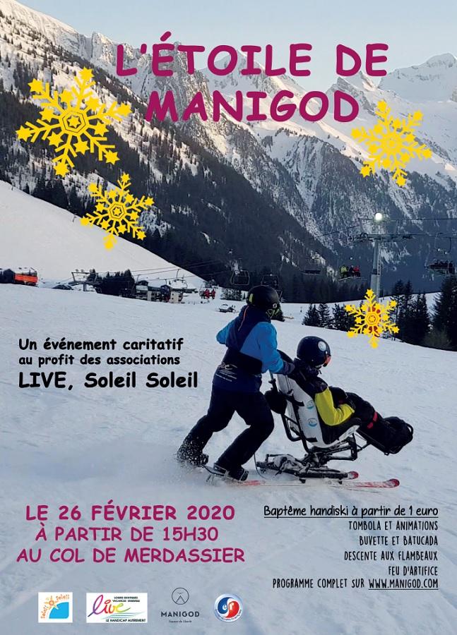 Affiche Etoile de Manigod Handiski pour tous 26 février 2020