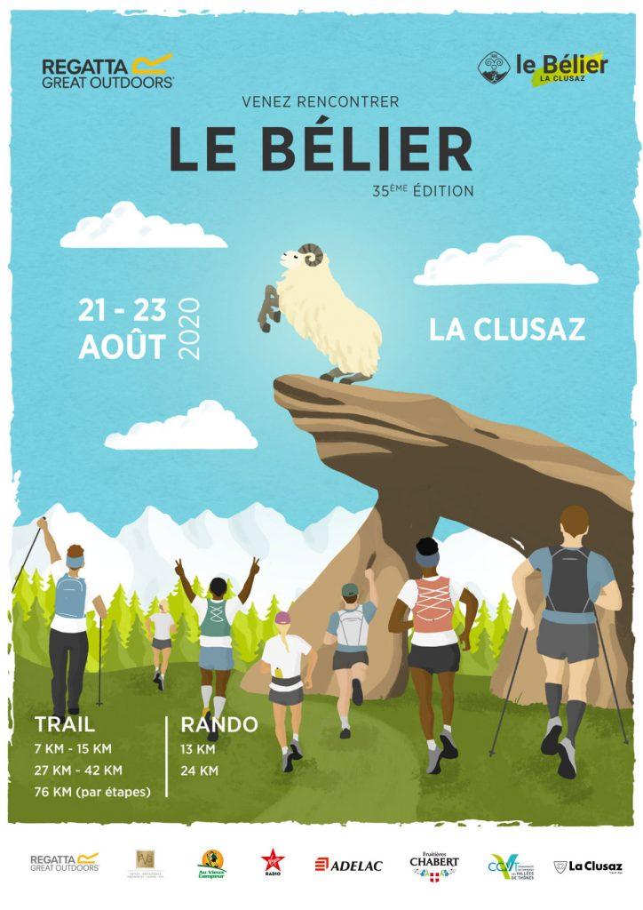 Affiche Trail le Bélier La Clusaz